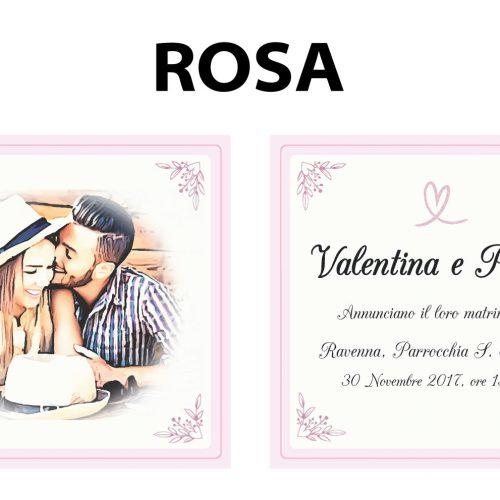 Partecipazioni matrimonio colore rosa