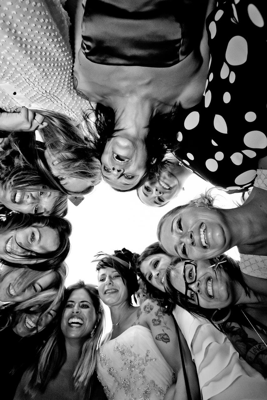 Matrimonio foto con amici